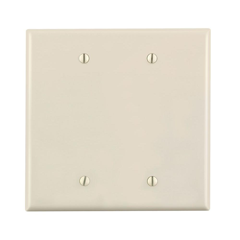 Leviton 2-Gang Midway Blank Nylon Wall Plate, Light Almond