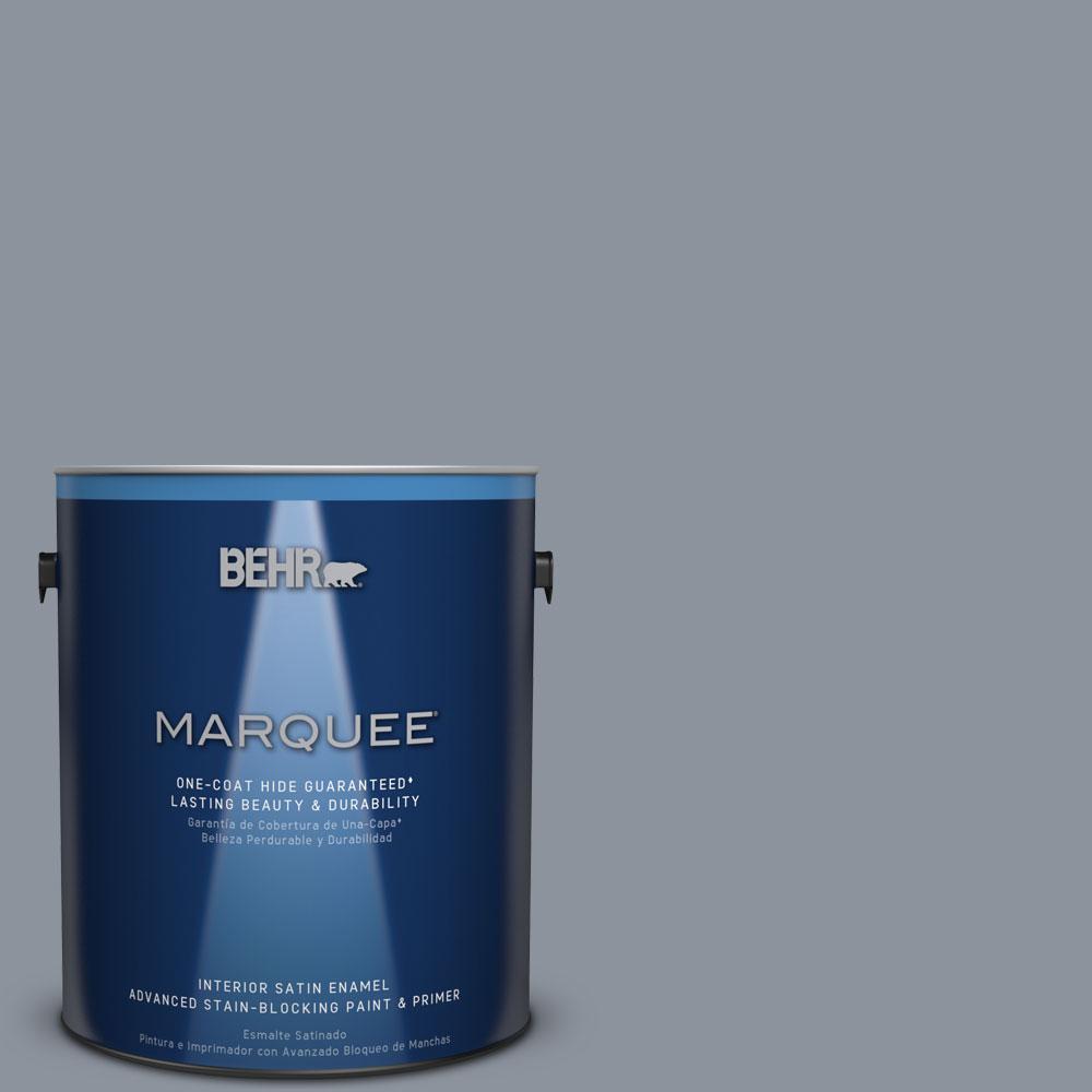 1 gal. #HDC-AC-26A Lilac Fields One-Coat Hide Satin Enamel Interior Paint