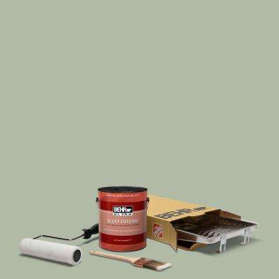 1 gal. #N390-3 Jojoba Ultra Extra Durable Flat Interior Paint and 5-Piece Wooster Set All-in-One Project Kit