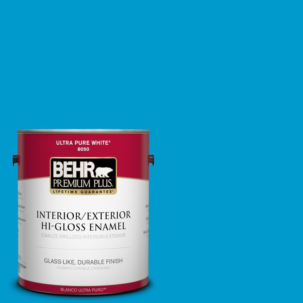 1-gal. #550B-6 Isle of Capri Hi-Gloss Enamel Interior/Exterior Paint