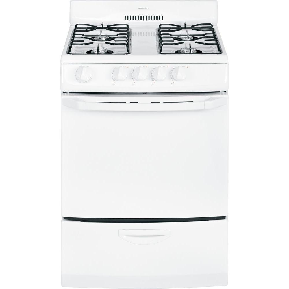 24 in. 3.0 cu. ft. Gas Range in White