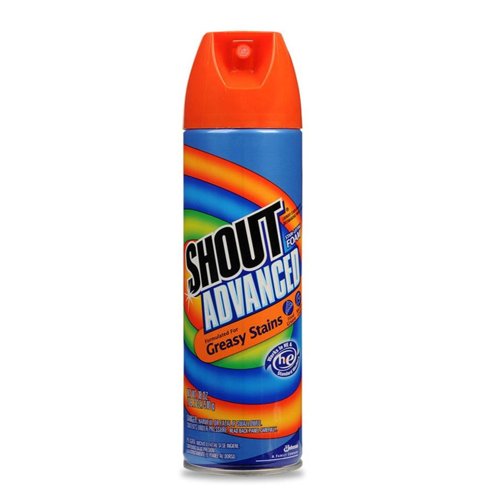 Shout 18 oz. Advanced Laundry Stain Remover Foam Aerosol (8-Pack)