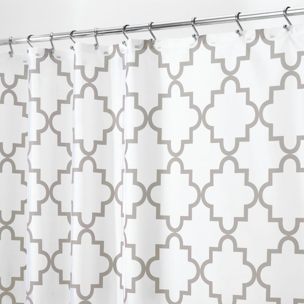 InterDesign Moroccan Trellis 1 In Gray Shower Curtain 68595CX