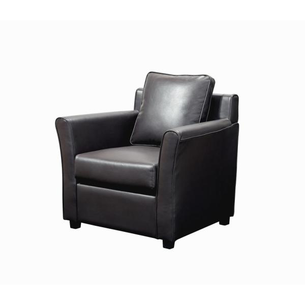 America Accent Chairs.Furniture Of America Beltram Dark Gray Leather Accent Arm Chair Idi
