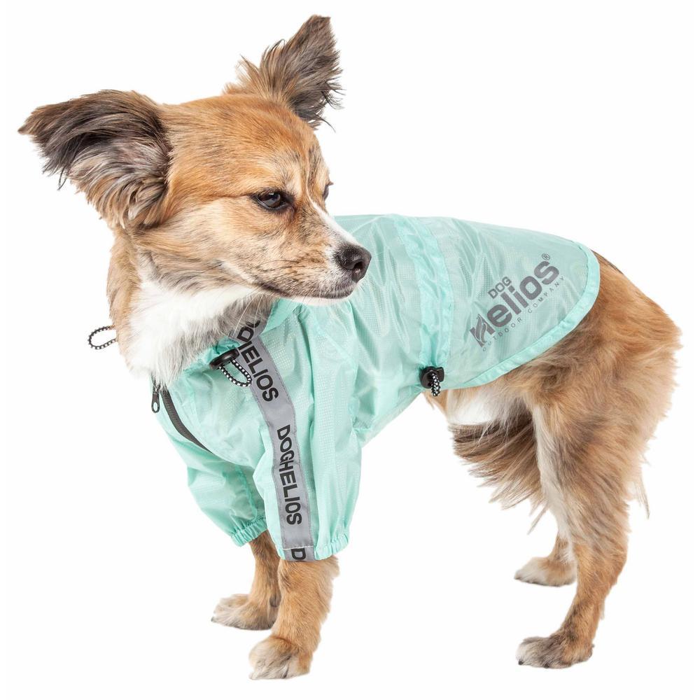Small Green Torrential Shield Waterproof Multi-Adjustable Pet Dog Jacket