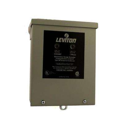 120/240-Volt-Single Phase Panel Mount 4-Mode Protection Outdoor Rated Surge Protective Device, Gray