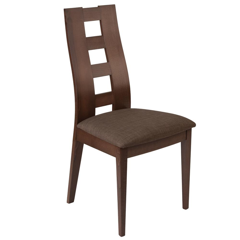 Preston espresso side chair