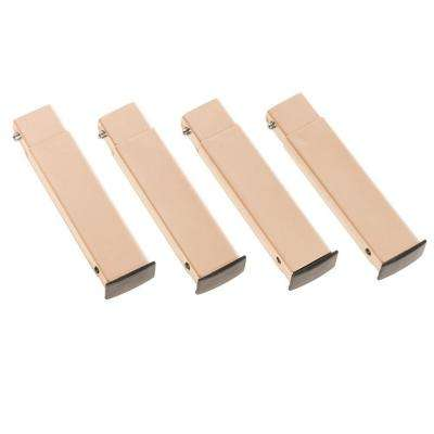 Cam O Bunk Accessory 7 in. Tan Leg Extensions (4-Pack)
