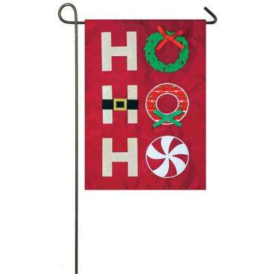 18 in. x 12.5 in. Ho Ho Ho Garden Applique Flag