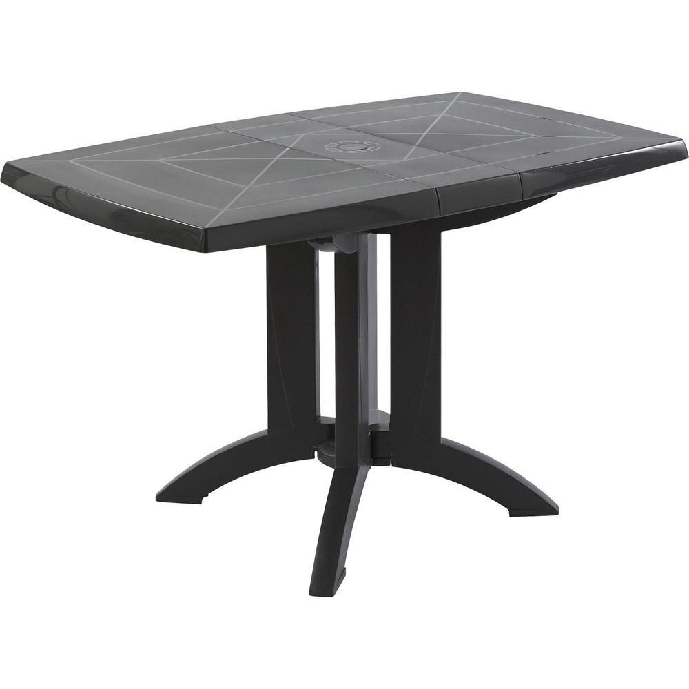 Milton Charcoal Rectangular Resin Outdoor Dining Table