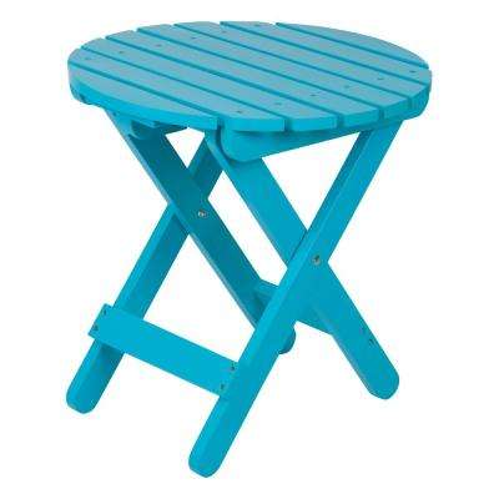 Adirondack Turquoise Round Wood Folding Table