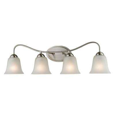 Conway 4-Light Brushed Nickel Wall Mount Bath Bar Light
