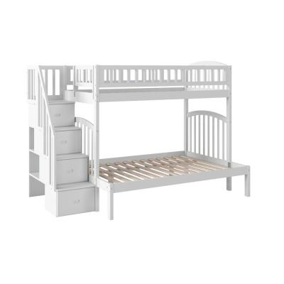 Westbrook White Twin Over Full Staircase Bunk