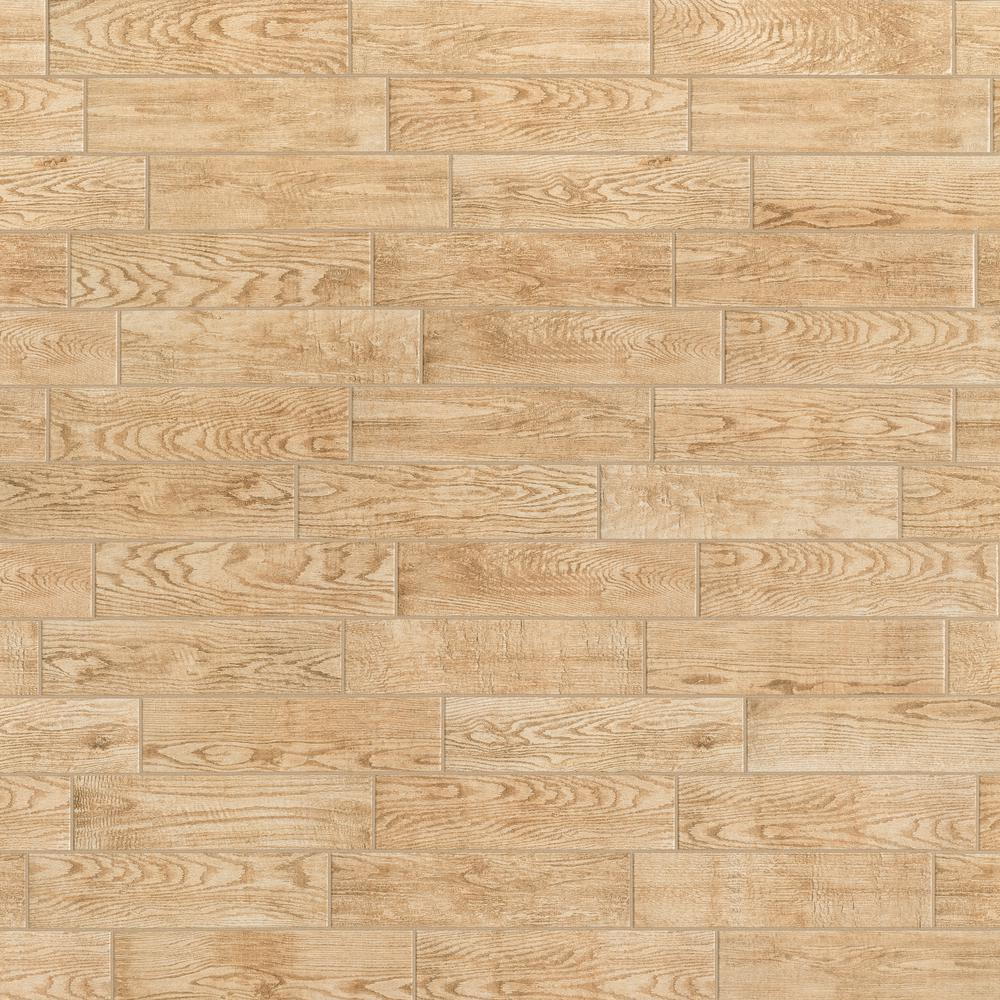 Marazzi Montagna Natural 6 In X 24 In Glazed Porcelain Floor And