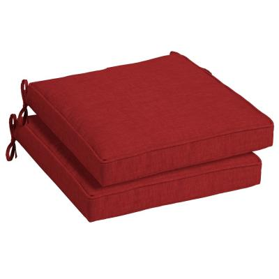 21 x 21 Ruby Leala Texture Outdoor Seat Cushion (2-Pack)