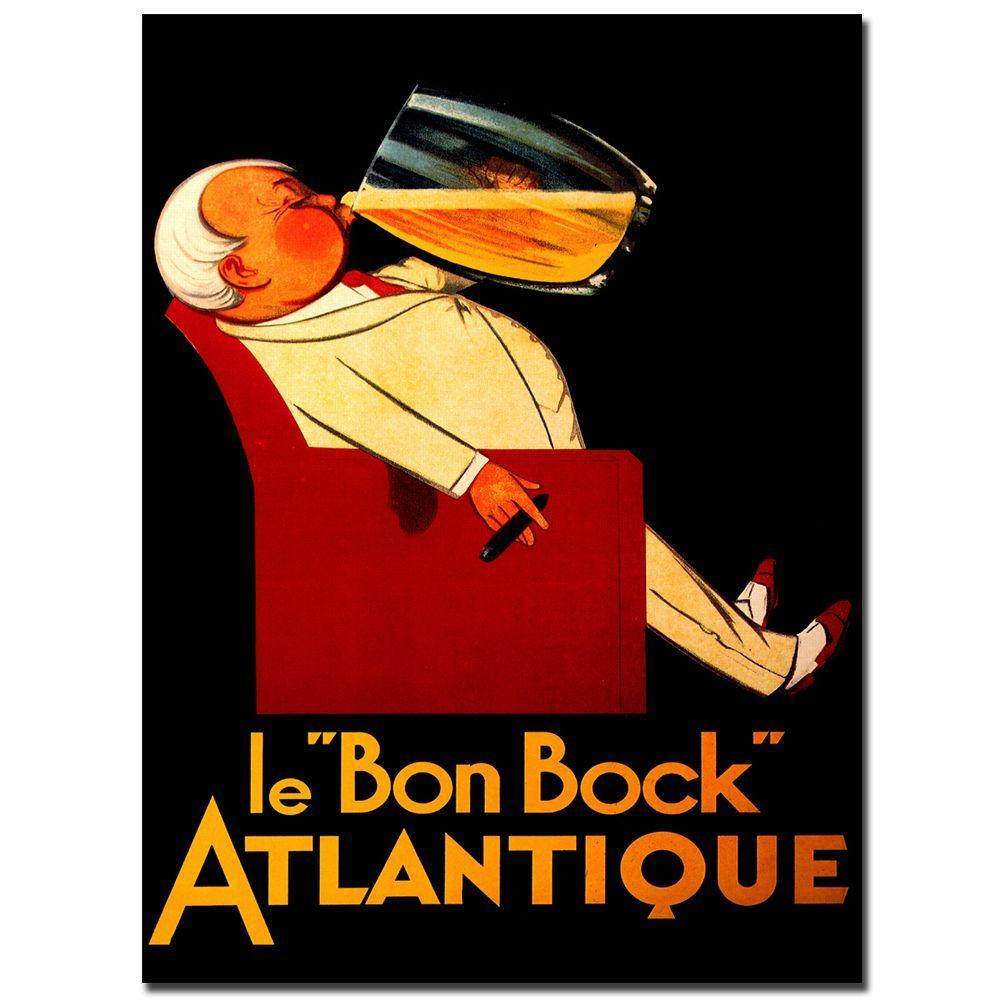 Trademark Fine Art 24 in. x 32 in. Le Bon Bock Canvas Art