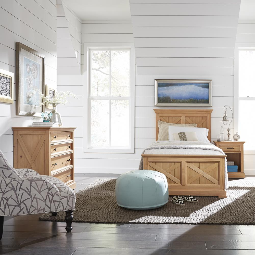 Country Lodge 3-Piece Pine Twin Bedroom Set