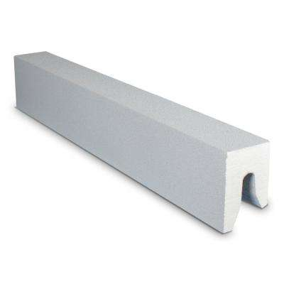 4 in. x 60 in. Single Threshold Shower Base/Curb in Gray