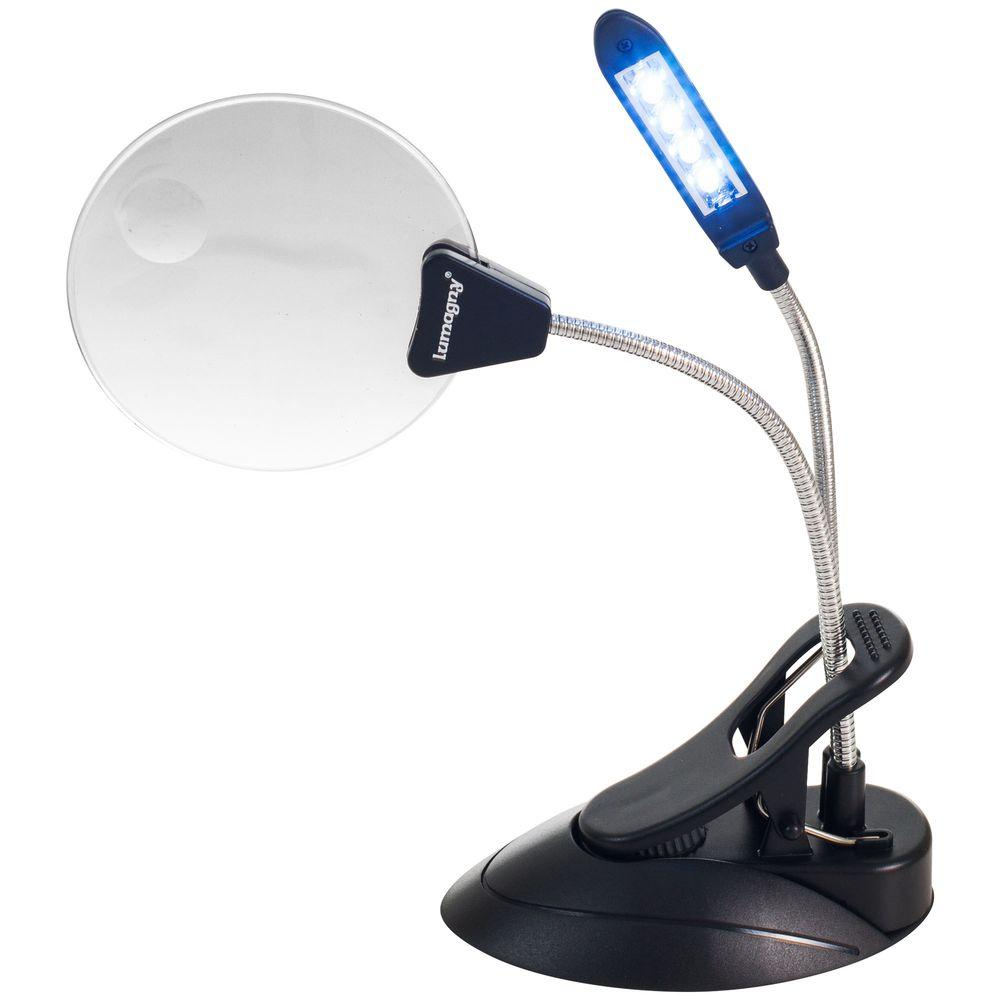 ADG 2X/4X Hands-Free Magnifier with 4 LED Light and Clip
