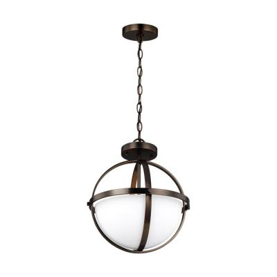 Alturas 2-Light Brushed Oil Rubbed Bronze Semi-Flush Convertible Pendant