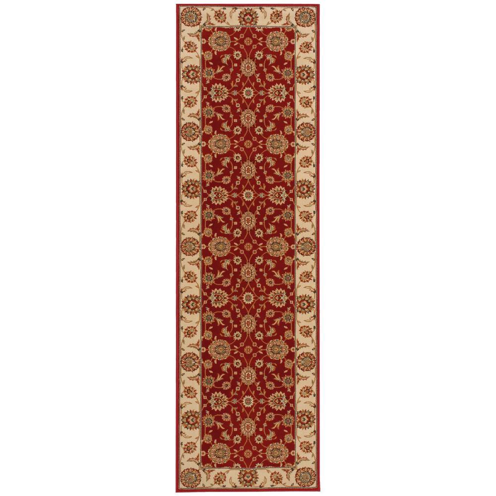 Persian Crown Suret Red 2 ft. x 8 ft. Runner Rug