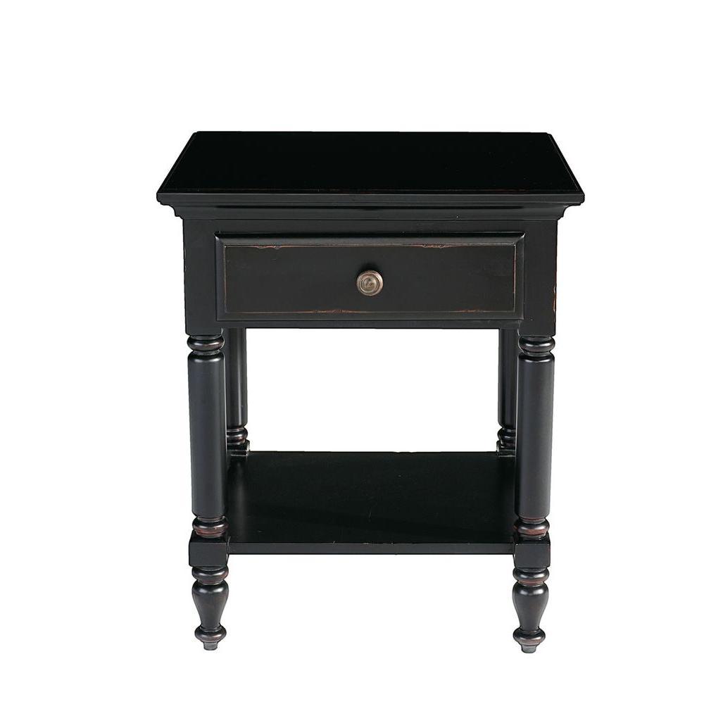 Thomasville Westmont Ebony Veneer 1-Drawer Side Table-DISCONTINUED