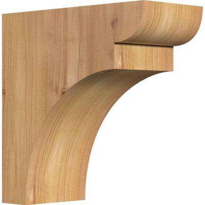 3-1/2 in. x 8 in. x 8 in. Western Red Cedar Yorktown Smooth Corbel