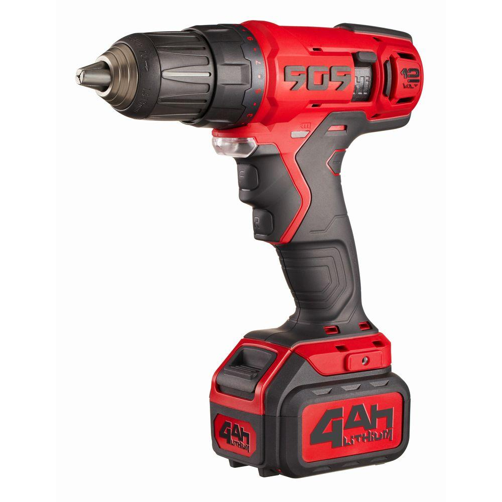 null 12-Volt 4Ah Touch Pro Drill Drivers with 1/2 in. Single Sleeve Keyless Chuck