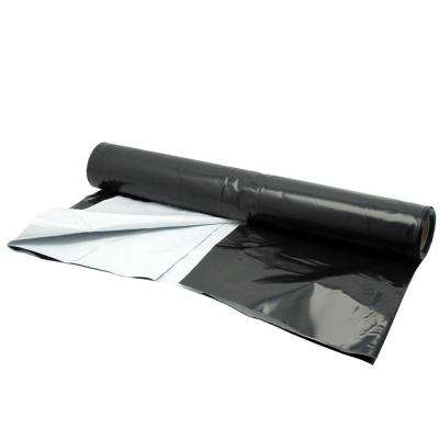 Panda Film 100 ft. x 10 ft. Black and White Poly Film 5.5ml