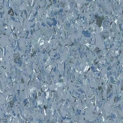 Premium Excelon Chromaspin 12 In. X 12 In. Mineral Blue Commercial Vinyl  Tile Flooring