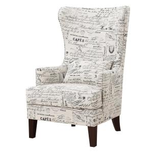 +6. Kegan French Script Accent Chair