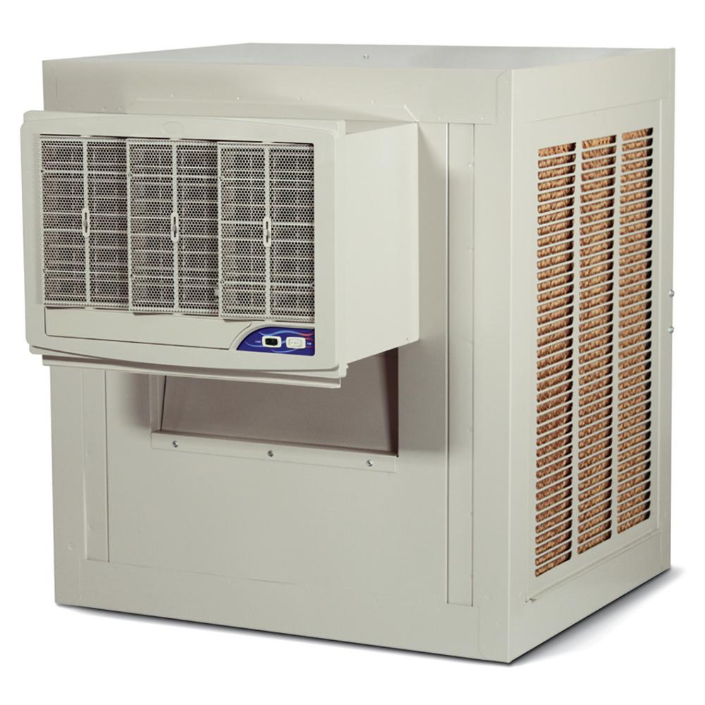 At Home Depot Evaporative Coolers : Mastercool cfm side draft wall roof in media