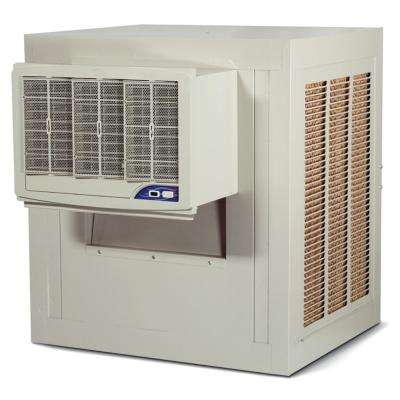 5000 CFM 2-Speed Front Discharge High Efficiency Window Evaporative Cooler for 1800 sq. ft. (with Motor)