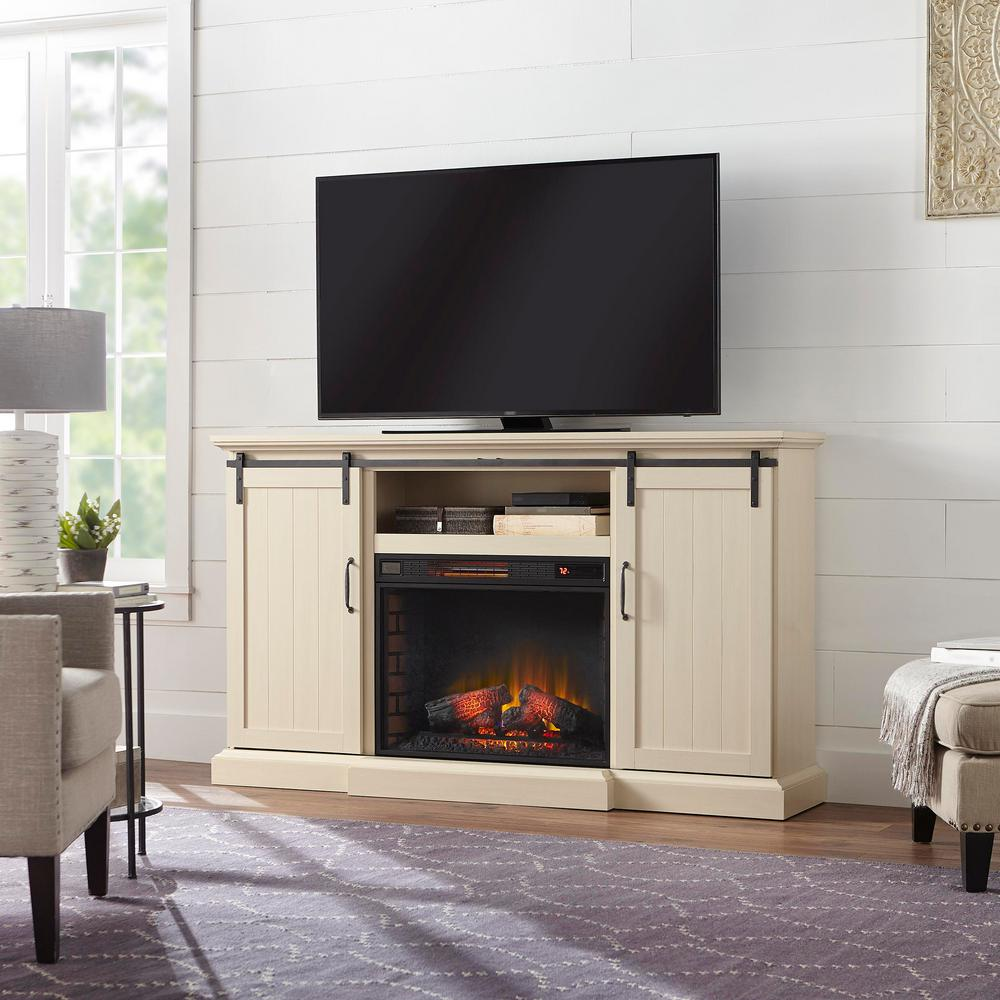 Chastain 68 in. Freestanding Media Console Electric Fireplace TV Stand with
