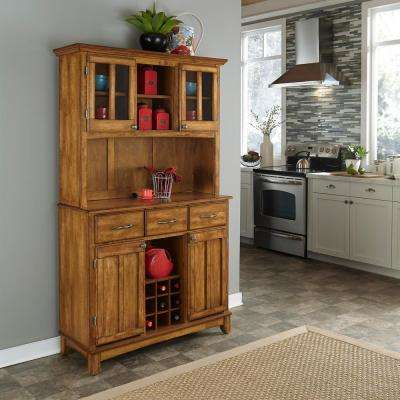 Cottage Oak Buffet with Hutch