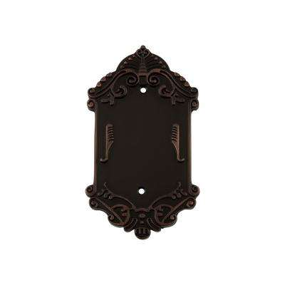 Victorian Switch Plate with Blank Cover in Timeless Bronze