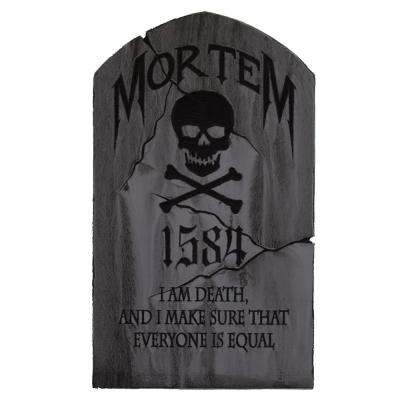 24 in x 14 in Halloween Yard Tombstone, Mortem