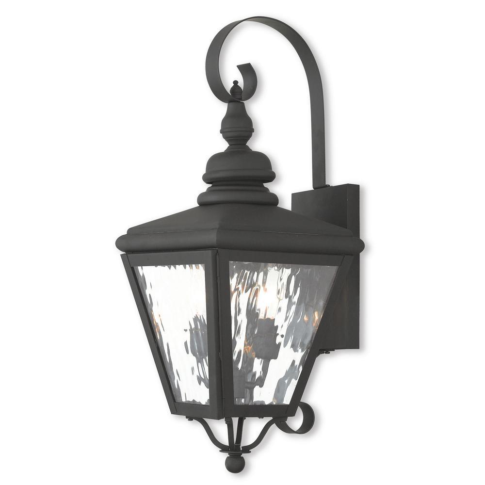 Cambridge 2-Light Black Outdoor Wall Mount Lantern