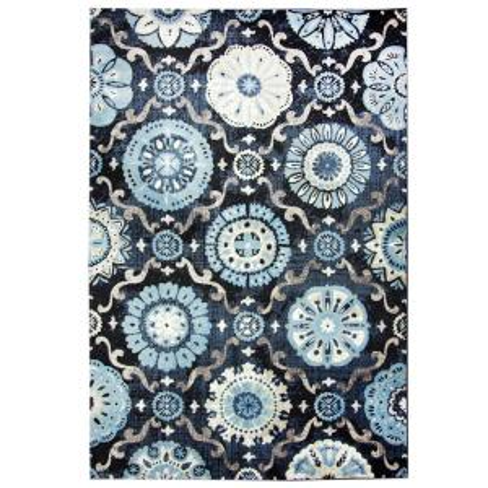 Carpet Art Deco Bazaar Medallion Navy 5 Ft X 7 Ft Area Rug Rgar062463 The Home Depot