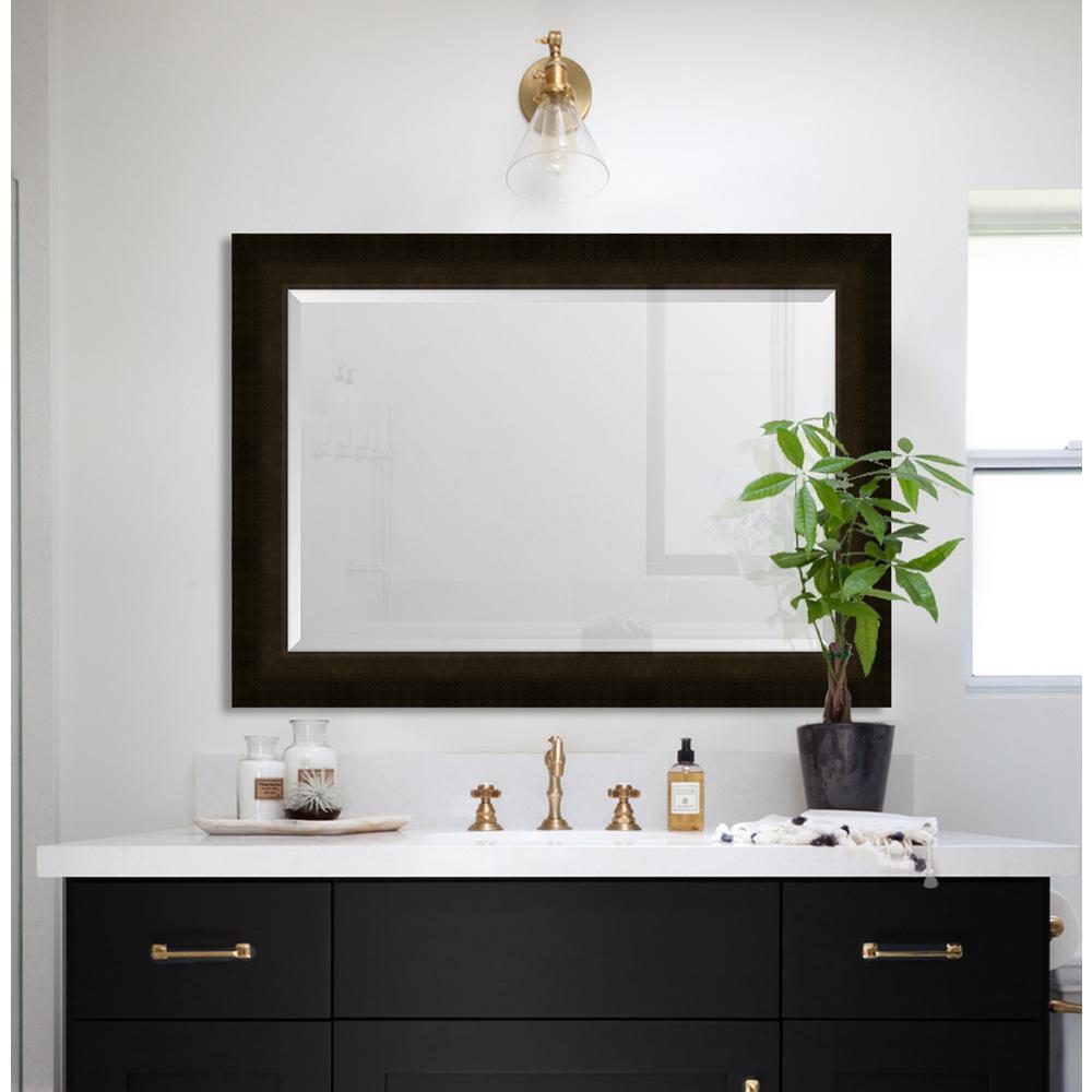 31 in. x 43 in. Framed 3 3/8 in. Sumatra Scoop Resin Frame Mirror
