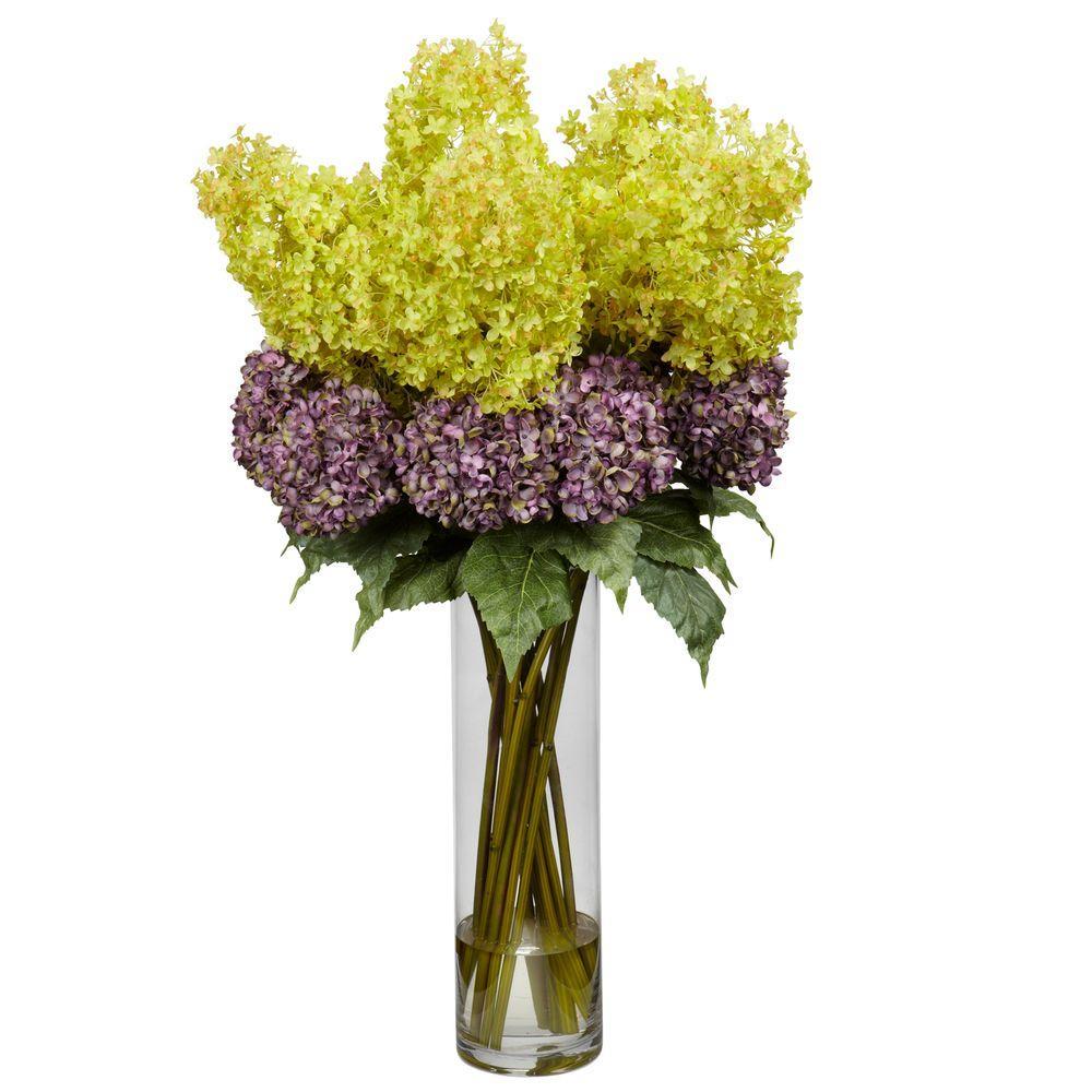 40 in. H Assorted Giant Mixed Hydrangea Silk Flower Arrangement