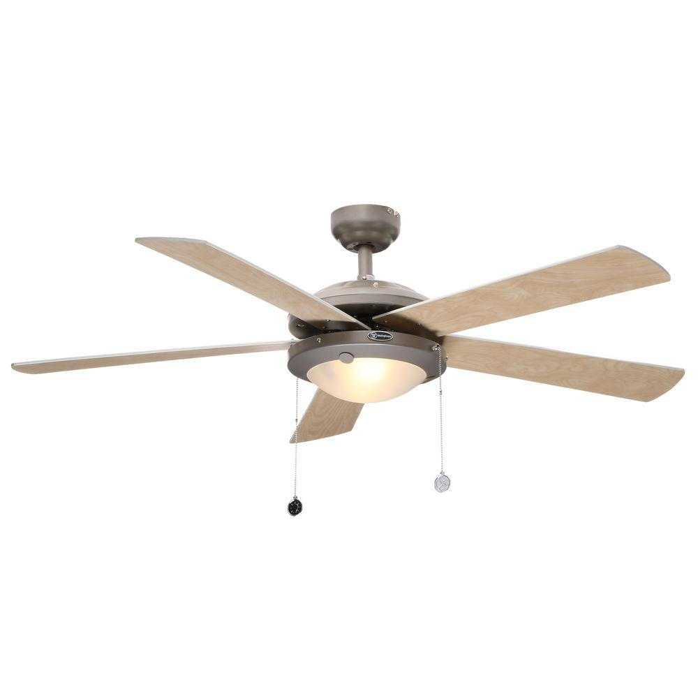 Westinghouse comet 52 in brushed pewter ceiling fan 7813665 the home depot - Westinghouse and living ...