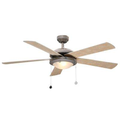 Comet 52 in. Indoor Brushed Pewter Ceiling Fan