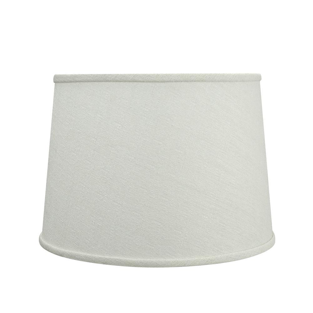 14 in. x 10 in. Off White Hardback Empire Lamp Shade
