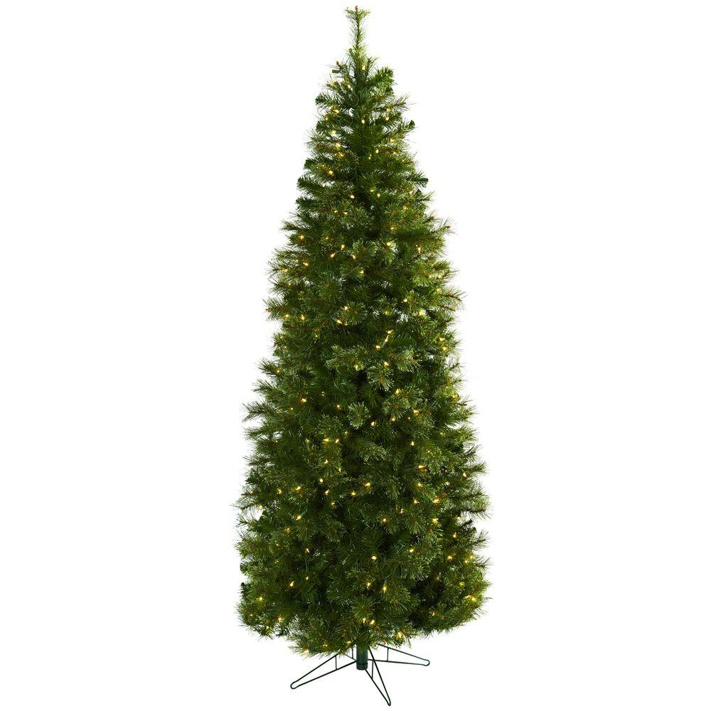 Nearly Natural 7.5 ft. Cashmere Slim Artifiicial Christmas ...