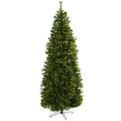 7.5 ft. Cashmere Slim Artificial Christmas Tree with Clear Lights