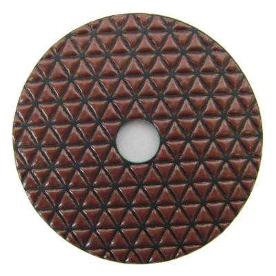 4 in. #200 Grit Dry Diamond Polishing Pad for Stone