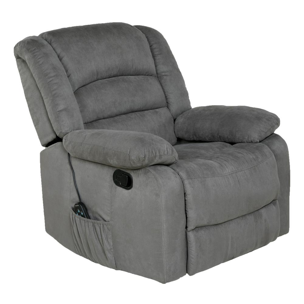 Gentil This Review Is From:Gray Microfiber Rocker Recliner With Heat, Massage, USB