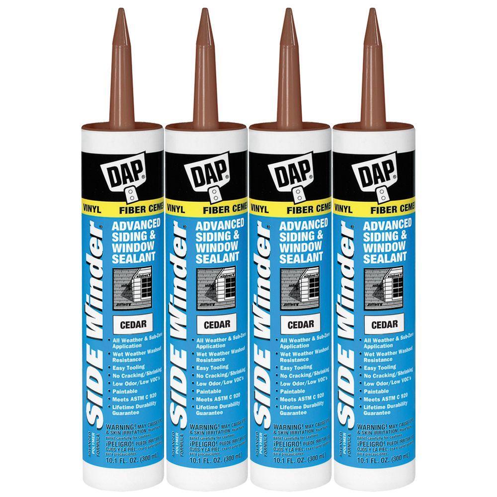 DAP 10.1 oz. Cedar Sidewinder Advanced Siding and Window Sealant (4-Pack)-DISCONTINUED