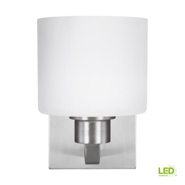 Canfield 1 Light Brushed Nickel Sconce